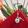 Серебряная подвеска Сердце и Ключик - Кулон Сердце и Ключик серебро 925, фото 3