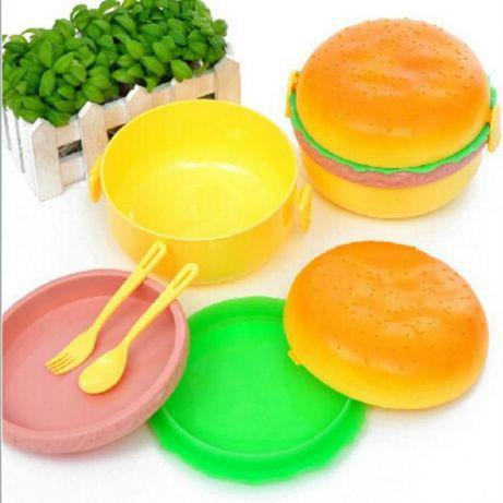 Ланчбокс Гамбургер! Оригинальный контейнер для еды!