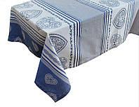 Скатерть классическая c сердцем, 150х220 см, Эксклюзивные подарки, Столовый текстиль