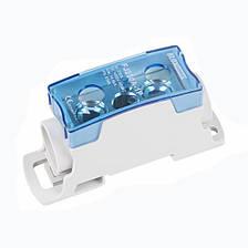 Блок  распределительный  однополюсный  125A/1 на DIN-рейку, фото 2