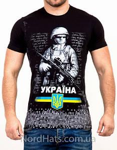 """Молодежная футболка VM, """"Україна"""", черный"""
