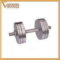 Гантели стальные наборные разборные 2х20 кг (общий вес 40 кг), фото 1