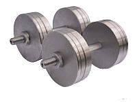 Гантелі сталеві набірні розбірні 2х20 кг (загальна вага 40 кг), фото 1