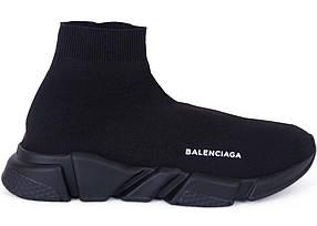 Кроссовки женские Balenciaga - Black, материал -  текстиль, подошва - пена