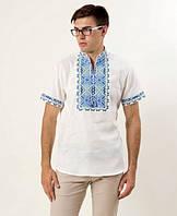 Мужская льняная вышиванка Атаман