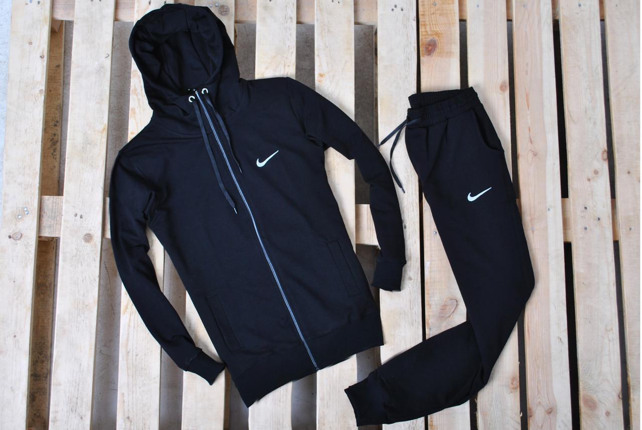 b23f035e Мужской спортивный костюм В стиле Найк Hood черный на молнии найк / Костюм  Найк капюшон черный