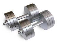 Гантели стальные наборные разборные 2х28 кг (общий вес 56 кг), фото 1