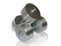 Гантелі сталеві набірні розбірні 2х30 кг (загальна вага 60 кг), фото 1