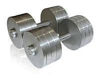 Гантели стальные наборные разборные 2х34 кг (общий вес 68 кг), фото 1