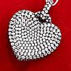 Серебряный кулон Сердце чёрный - Кулон Сердце серебро черный родий, фото 3