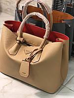 Модная женская сумка PRADA cuir double bag (реплика), фото 1