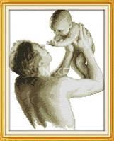 Отцовская любовь R375/2 Набор для вышивания крестом с печатью на ткани канва 11СТ
