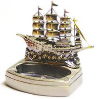 Пепельница с зажигалкой Корабль