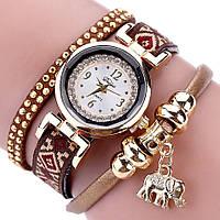 Женские часы браслет с коричневым ремешком, фото 1