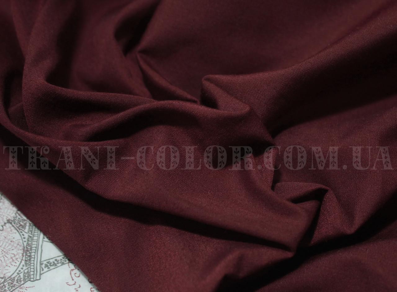 Рубашечная ткань бордовая