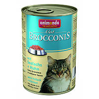 """Консервы Brocconis Cat """"С сайдой и ципленком"""" 7,5/4 (для взрослых кошек), 400г"""