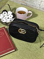 Чорна шкіряна сумочка Гуччі (репліка), фото 1