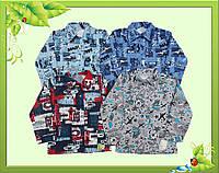 Рубашка для мальчика с начесом 30р(104-116) = 58грн