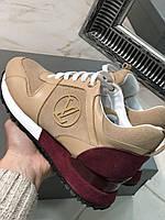 Модные женские кроссовки LOUIS VUITTON беж (реплика), фото 1