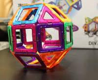 Умный магнитный конструктор, 3D, Mag-Cube 62 деталей + подарок
