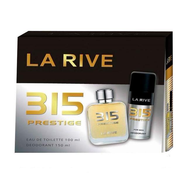 La Rive 315 Prestige Подарочный набор для мужчин (Туалетная вода 100мл  Дезодорант 150мл)
