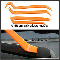 Набор инструментов съемники лопатки для снятия обшивки салона, панелей авто, магнитол, удаления клипс (4 шт.).
