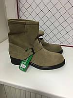 Ботинки женские замшевые демисезонные Benetton