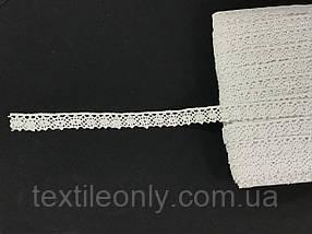 Кружево натуральное хб цвет белый 15 мм