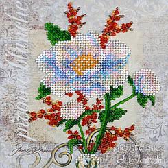 """Набор для вышивания бисером на холсте """"Белый цветок"""""""