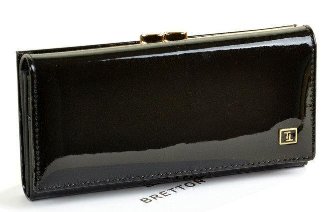 Женский кожаный кошелек лак BRETTON GOLD W1