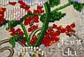 """Набор для вышивания бисером на холсте """"Белый цветок"""", фото 4"""