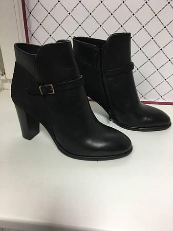 Ботиночки женские короткие классические  демисезонные черные кожаные  Kell, фото 2
