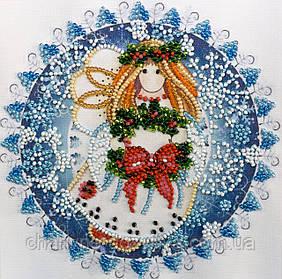 """Набор для вышивания бисером на холсте """"Рождественский ангел"""""""