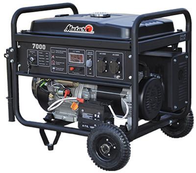 Однофазный бензиновый генератор MATARI BS7000E Black Series (5 кВт)