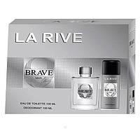 La Rive Brave Man Подарочный набор для мужчин (Туалетная вода 100мл  Дезодорант 150мл)