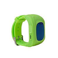 Часы телефон детские с датчиком GPS зеленые Q50, фото 1