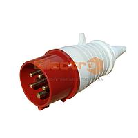 Вилка РС-025 3 полюса +PE+N 32А 400В IP44 / Вилка РС -025  3 полюси +PE+N    32А 400В  IP44  ElectrO