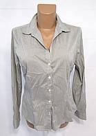Блузка серая H&M, 10 (40), cotton-polyester, Как Новая!
