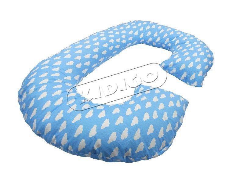 """Подушка для вагітних та немовлят """"Рогалик"""" з наволочкою KIDIGO"""