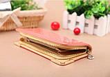 Клатч жіночий гаманець лаковий (персиковий), фото 3