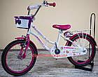 Детский велосипед Crosser Mermaid 16 дюймов бело-розовый, фото 3