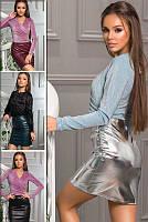 Сексуальная кожаная юбка Мини, фото 1