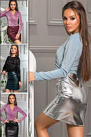Сексуальная кожаная юбка Мини