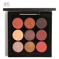 Палетка теней Focallure 9 Colors Eye Shadow с шиммером №5, фото 1