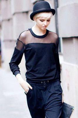 Модная женская кофточка ангора с сеткой