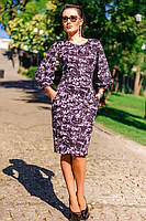 Трикотажное платье в женственный цветок, фото 1