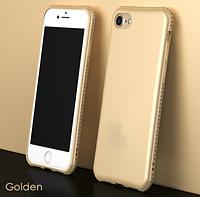 Золотой чехол с камнями Сваровски для iPhone 6 6S