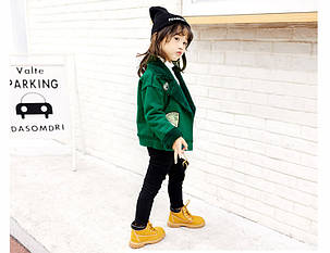 Куртка для девочки косуха с нашивками, фото 2