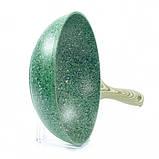 Сковорода WOK Fissman MALACHITE 28 см. (Каменное антипригарное покрытие с индукционным дном), фото 4