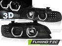Фари BMW E39 3D DAYLIGHT BLACK, фото 5
